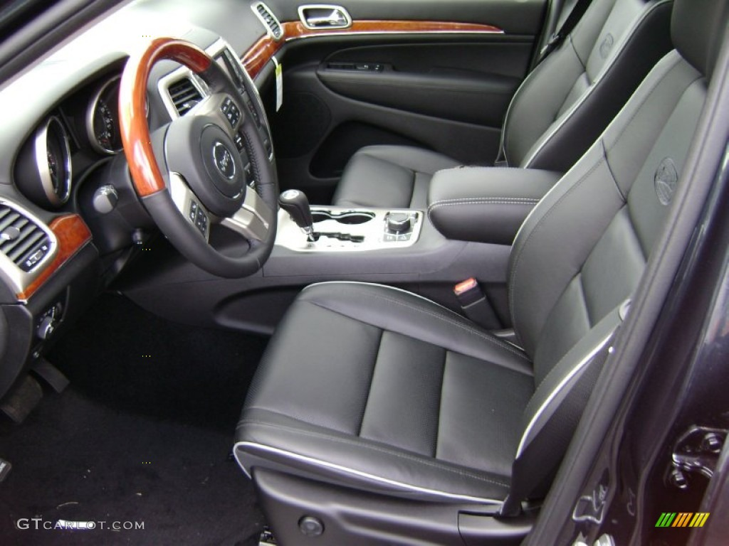 black interior 2012 jeep grand cherokee overland 4x4 photo 61148123. Black Bedroom Furniture Sets. Home Design Ideas