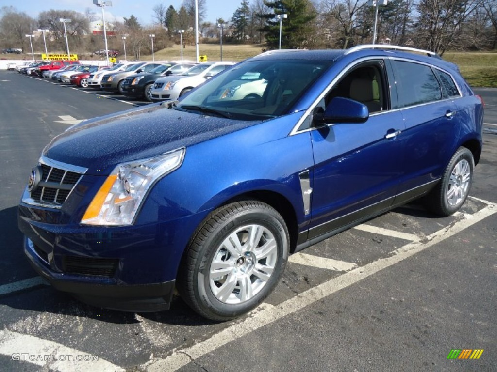 Xenon Blue Metallic 2012 Cadillac Srx Luxury Exterior