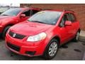 Vivid Red 2010 Suzuki SX4 Crossover AWD