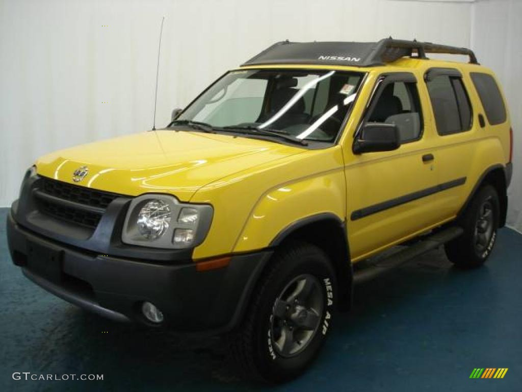 2002 solar yellow nissan xterra se v6 4x4 6102528. Black Bedroom Furniture Sets. Home Design Ideas