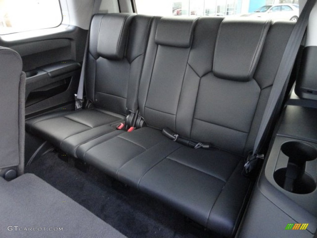 Black Interior 2012 Honda Pilot Ex L 4wd Photo 61181902