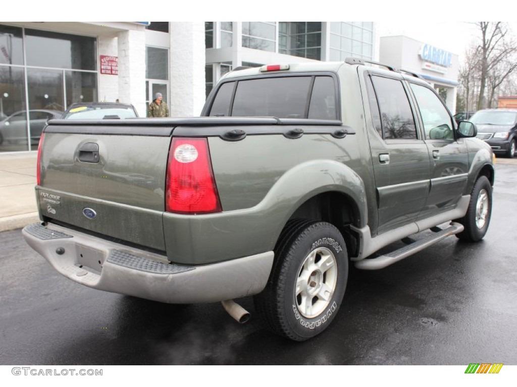 2003 Estate Green Metallic Ford Explorer Sport Trac XLT 4x4 61113437 Photo