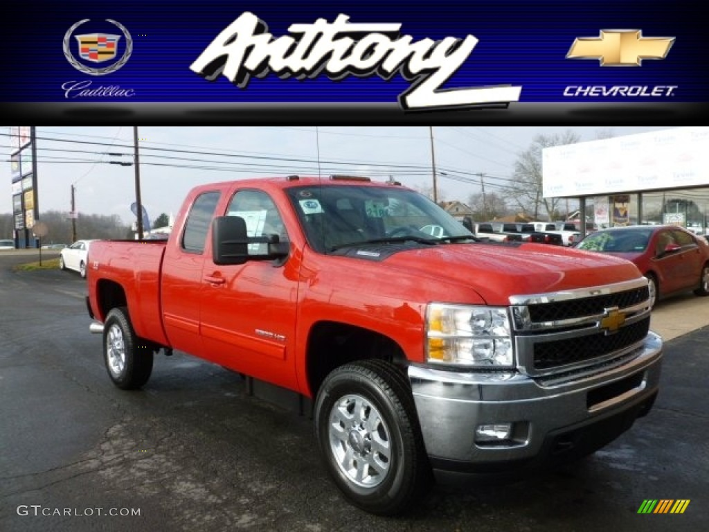 Victory red chevrolet silverado 2500hd