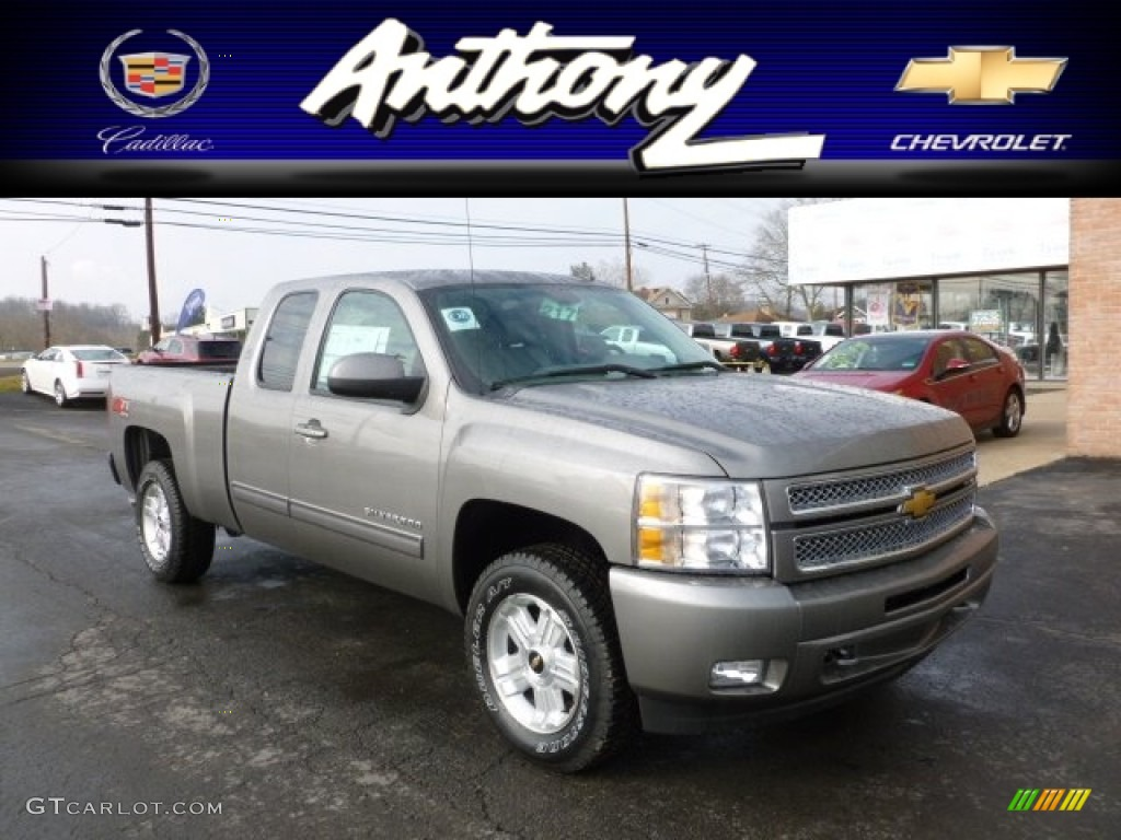2012 Silverado 1500 LT Extended Cab 4x4 - Graystone Metallic / Light Titanium/Dark Titanium photo #1