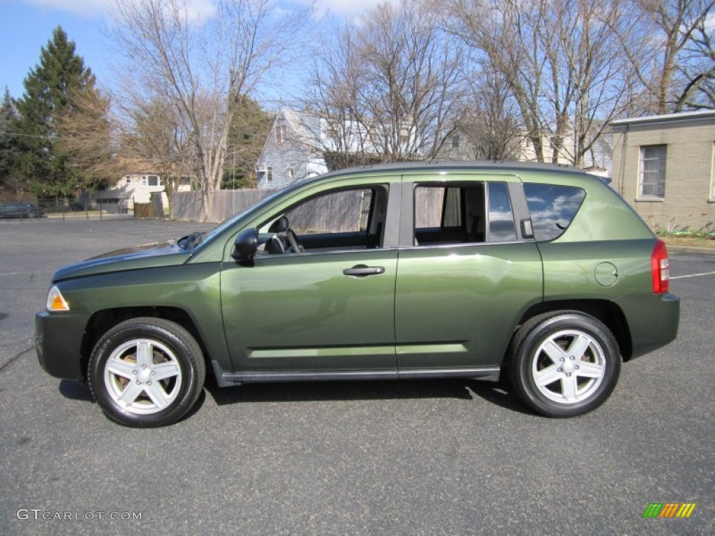 jeep green metallic 2007 jeep compass sport 4x4 exterior photo 61205650. Black Bedroom Furniture Sets. Home Design Ideas