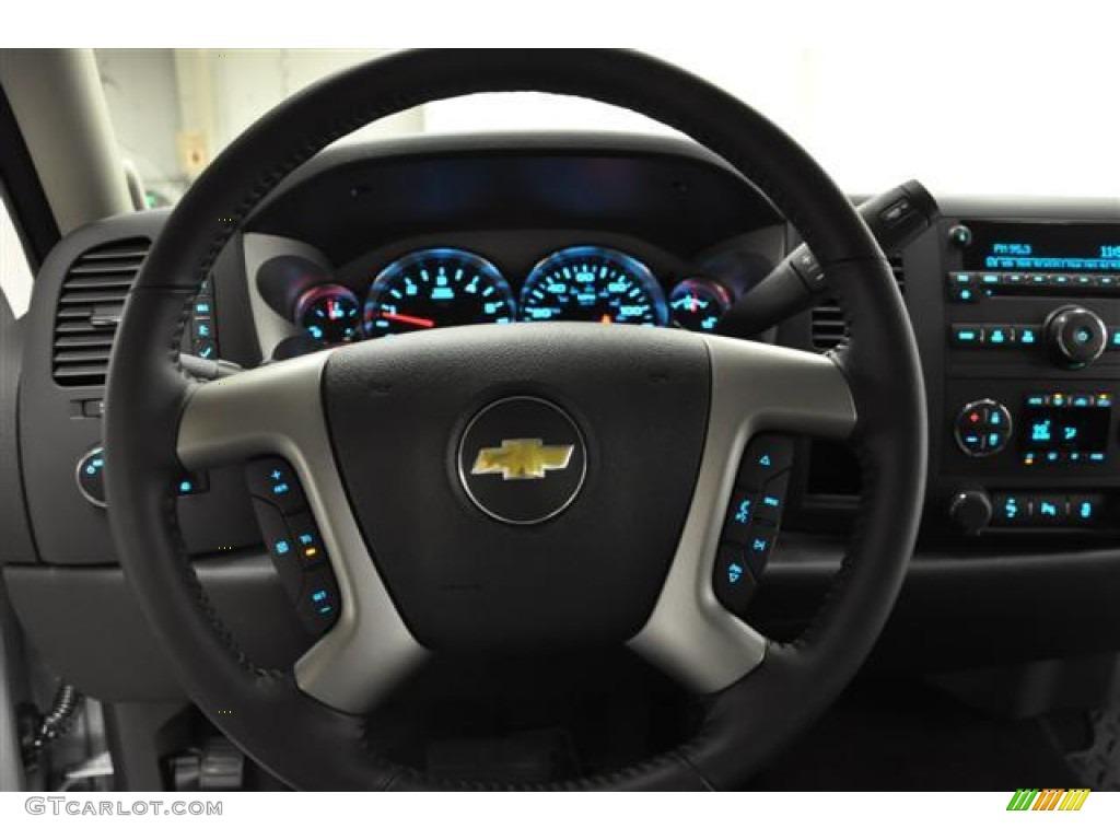 2012 Silverado 1500 LT Extended Cab - Silver Ice Metallic / Ebony photo #14