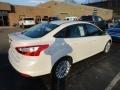 2012 White Platinum Tricoat Metallic Ford Focus Titanium Sedan  photo #2