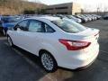 2012 White Platinum Tricoat Metallic Ford Focus Titanium Sedan  photo #4