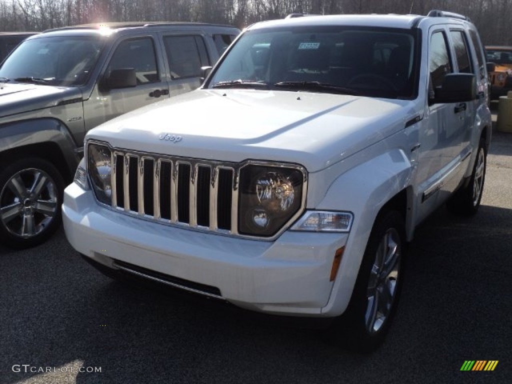 2012 bright white jeep liberty jet 4x4 61242041 car color galleries. Black Bedroom Furniture Sets. Home Design Ideas