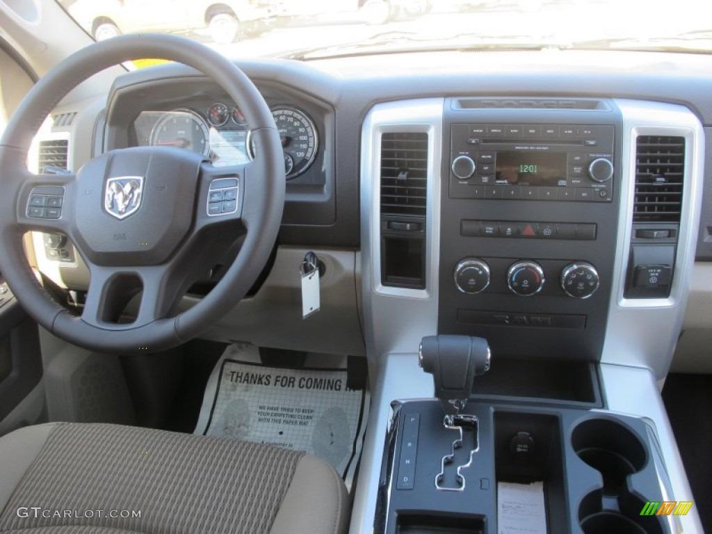 2012 Ram 1500 Big Horn Quad Cab - Sagebrush Pearl / Light Pebble Beige/Bark Brown photo #10