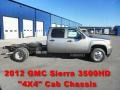 Steel Gray Metallic - Sierra 3500HD Crew Cab Dually 4x4 Chassis Photo No. 1