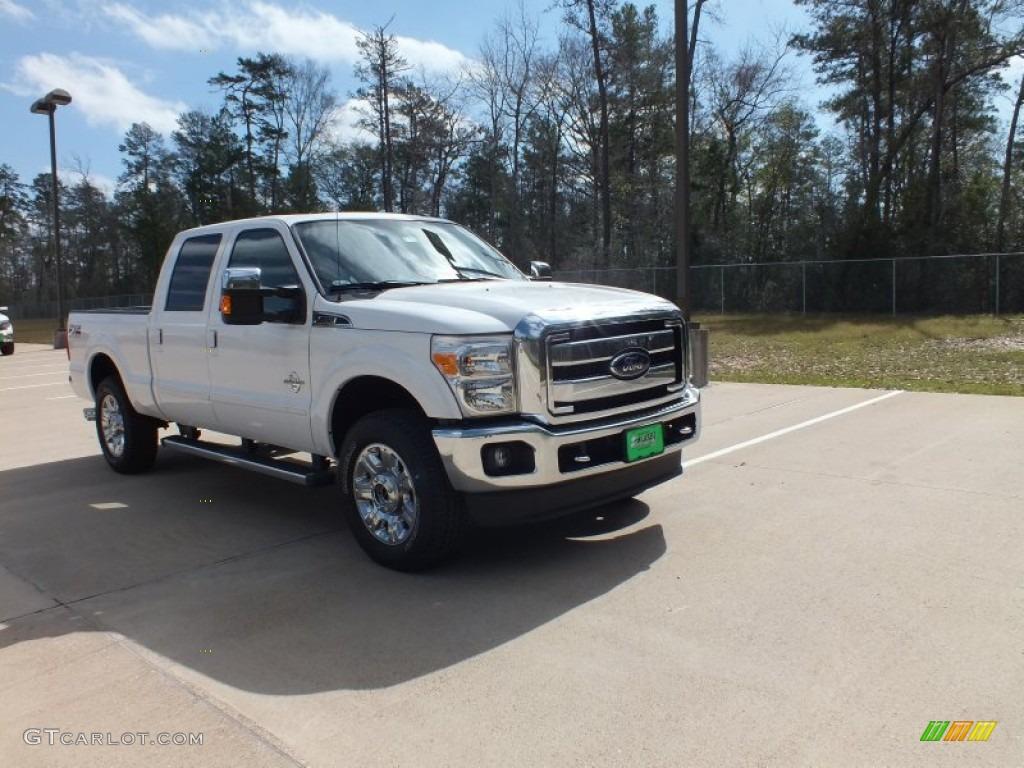 White platinum metallic tri coat ford f250 super duty