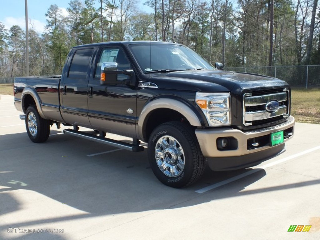2012 tuxedo black metallic ford f350 super duty king ranch crew cab 4x4 61288818. Black Bedroom Furniture Sets. Home Design Ideas