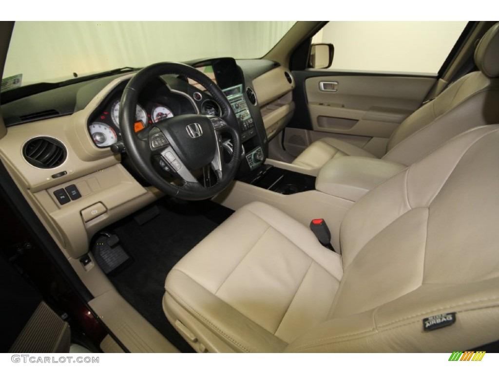 Beige Interior 2010 Honda Pilot Touring Photo #61301450 ...