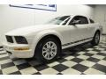 2007 Performance White Ford Mustang V6 Deluxe Coupe  photo #1