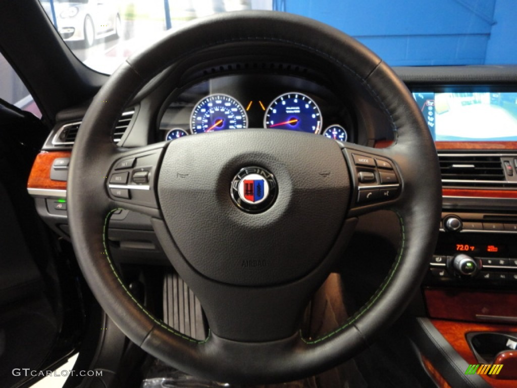 2012 bmw 7 series alpina b7 lwb black steering wheel photo