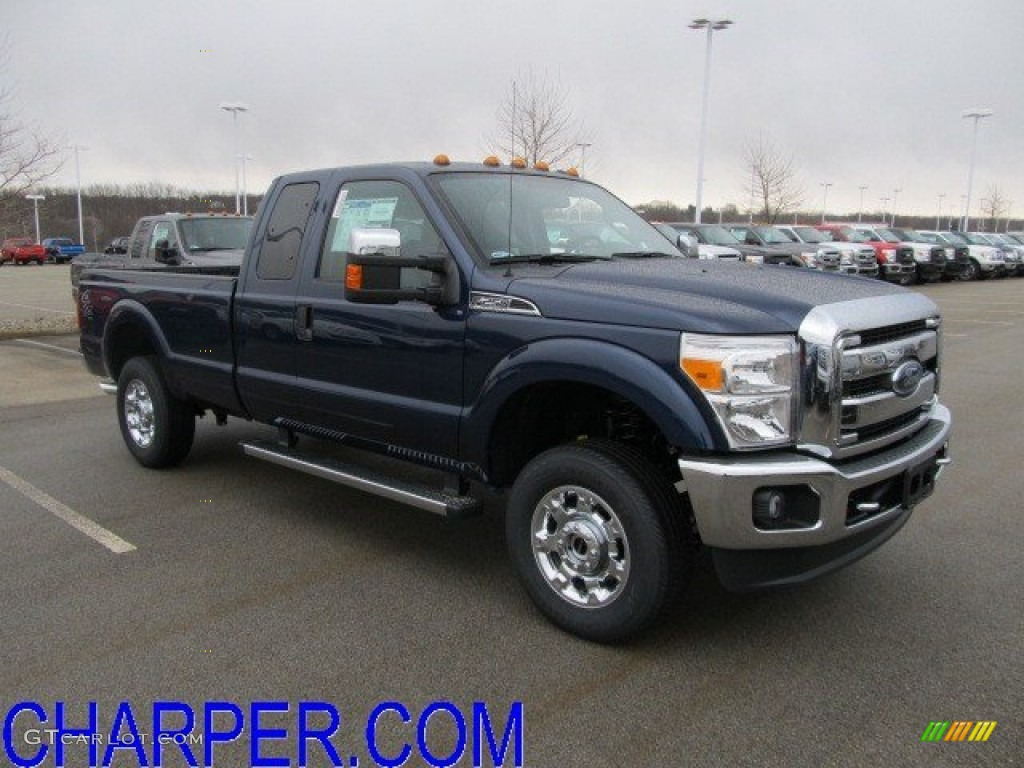 2012 dark blue pearl metallic ford f250 super duty xlt supercab 4x4 61288090. Black Bedroom Furniture Sets. Home Design Ideas