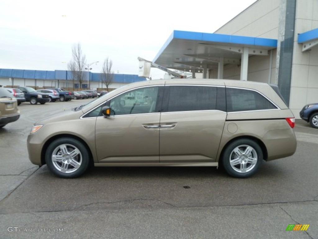 Mocha Metallic 2012 Honda Odyssey Touring Elite Exterior Photo 61332083