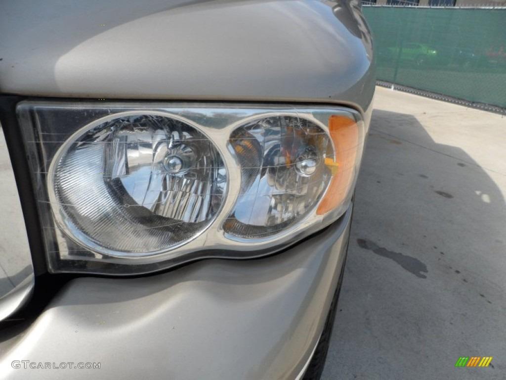 2005 Ram 1500 SLT Quad Cab - Light Almond Pearl / Dark Slate Gray photo #10