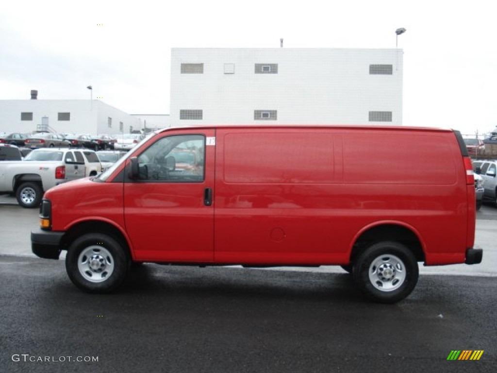 2012 Victory Red Chevrolet Express 2500 Cargo Van ...