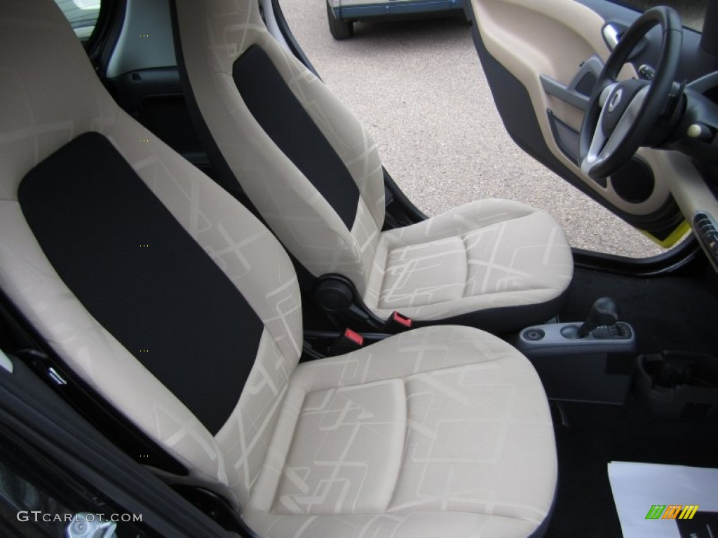 design beige interior 2010 smart fortwo passion coupe photo 61347989. Black Bedroom Furniture Sets. Home Design Ideas