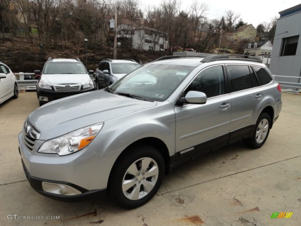 2012 ice silver metallic subaru outback 25i premium 61344468 2012 outback 25i premium ice silver metallic off black photo 6 vanachro Images