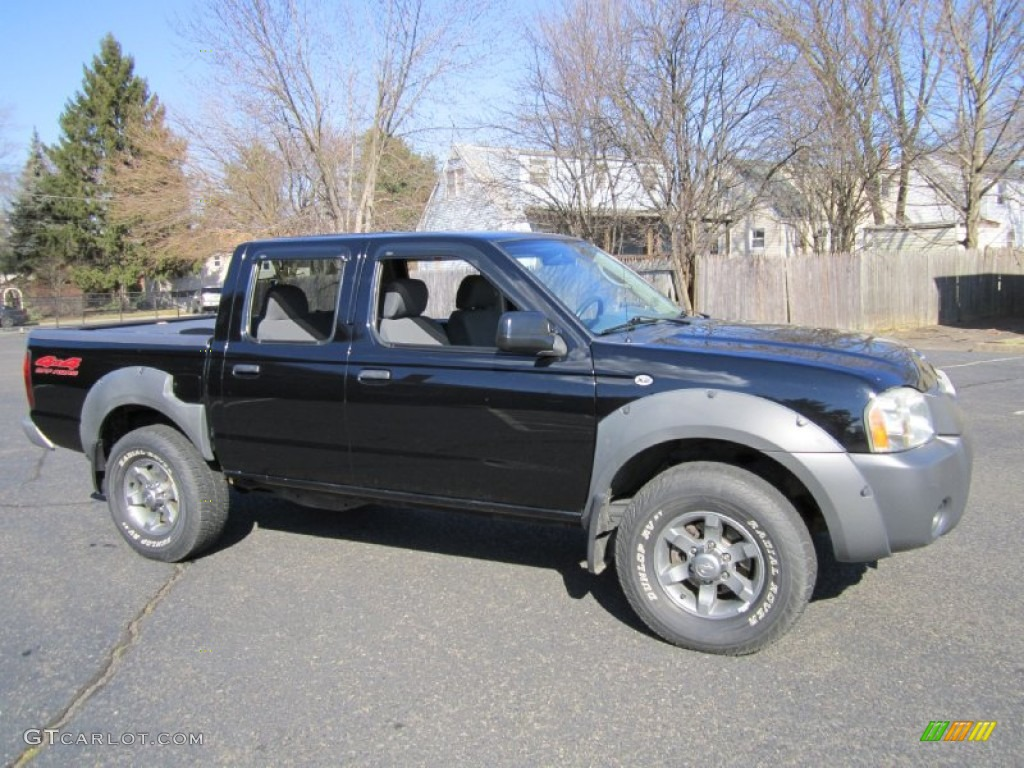 Super black 2003 nissan frontier xe v6 crew cab 4x4 exterior photo 61387129