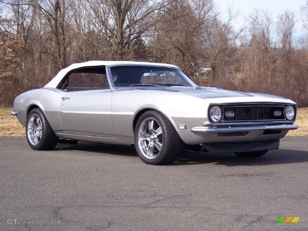 1968 Blade Silver Metallic Chevrolet Camaro Convertible 61344851