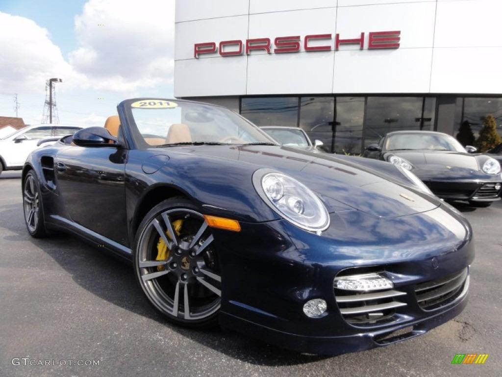 2011 Dark Blue Metallic Porsche 911 Turbo S Cabriolet