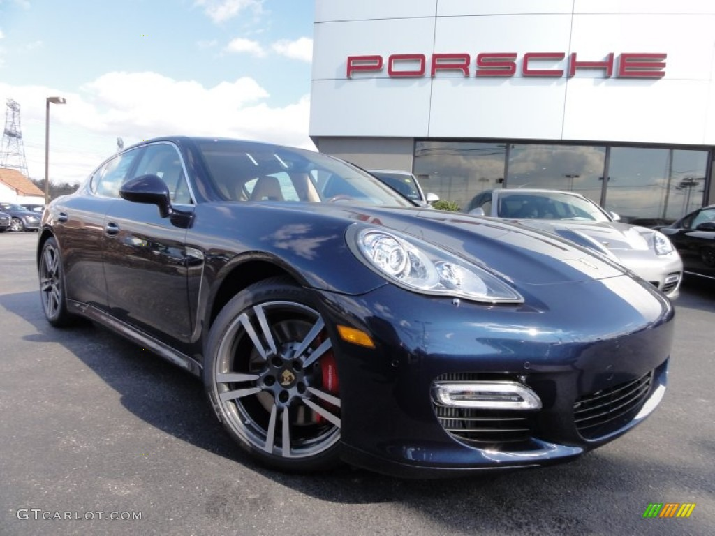 Dark Blue Metallic Porsche Panamera Turbo