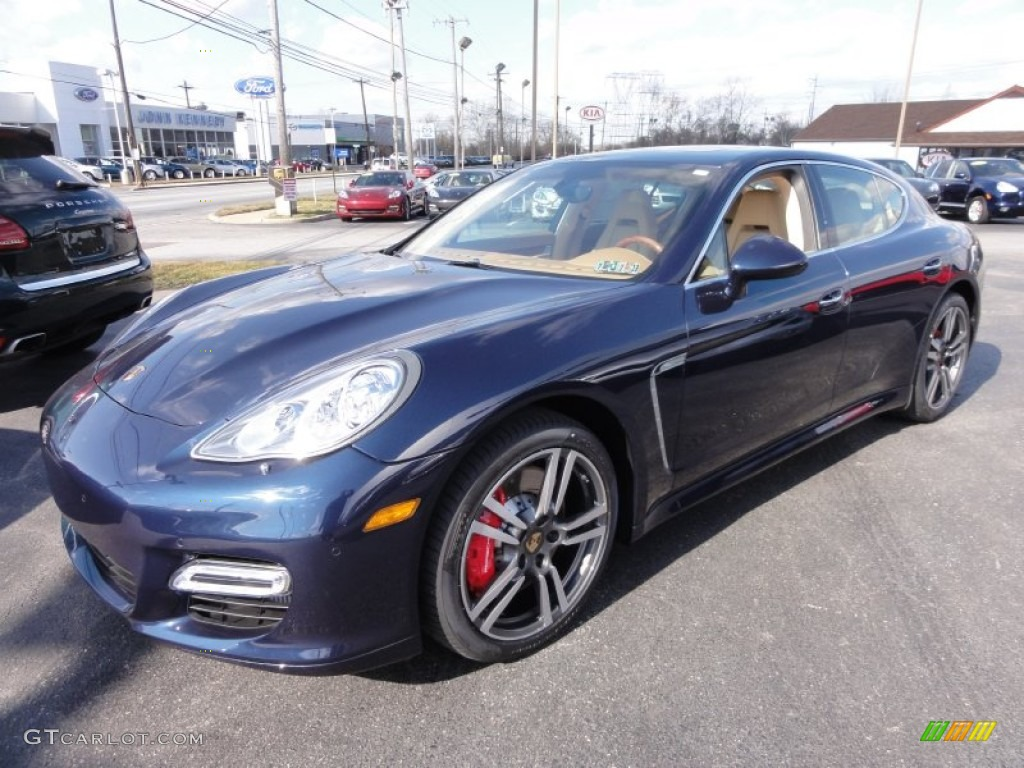 2012 dark blue metallic porsche panamera turbo 61344188. Black Bedroom Furniture Sets. Home Design Ideas