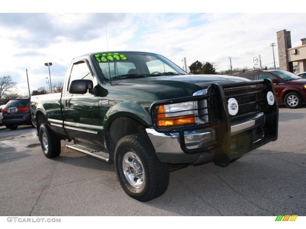 1999 dark hunter green metallic ford f250 super duty xlt regular cab 4x4 61345476 gtcarlot. Black Bedroom Furniture Sets. Home Design Ideas