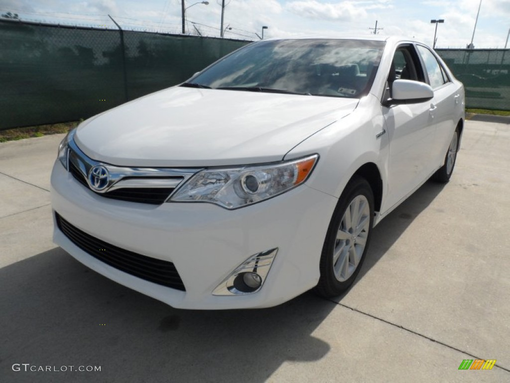 2012 super white toyota camry hybrid xle 61344790 photo 7 car color galleries. Black Bedroom Furniture Sets. Home Design Ideas