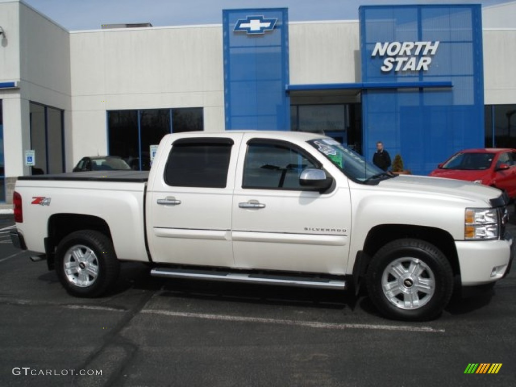 2011 Silverado 1500 LT Crew Cab 4x4 - White Diamond Tricoat / Ebony photo #1