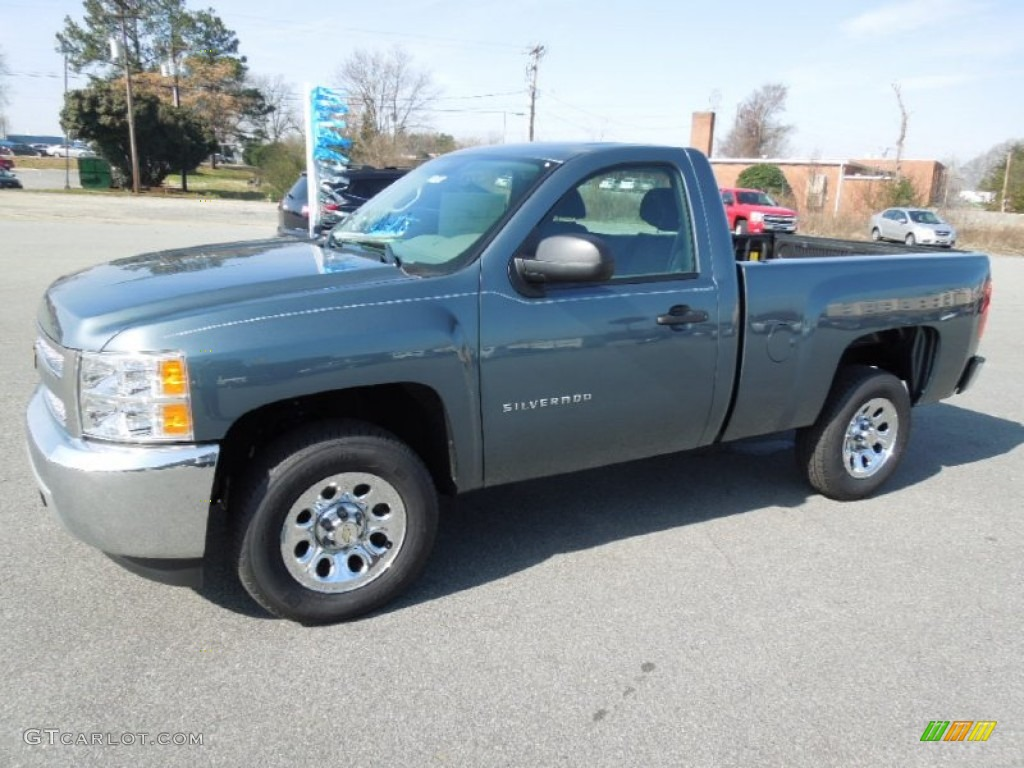 2012 Silverado 1500 LS Regular Cab - Blue Granite Metallic / Dark Titanium photo #1