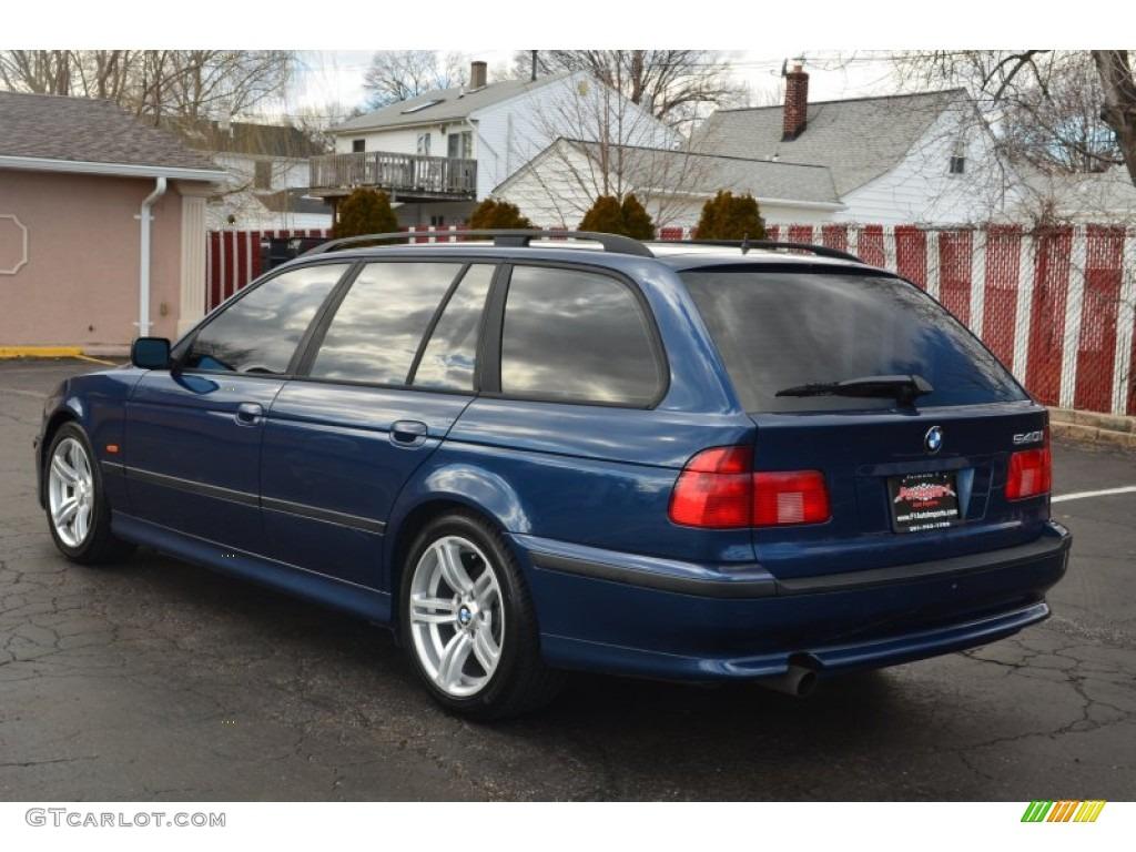 2000 biarritz blue metallic bmw 5 series 540i wagon 61344699 photo 4 car. Black Bedroom Furniture Sets. Home Design Ideas