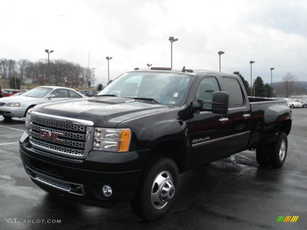 Onyx black 2012 gmc sierra 3500hd denali crew cab 4x4 dually exterior photo 61459060