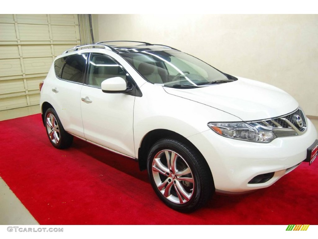 2011 Murano LE - Glacier White Pearl / Beige photo #1