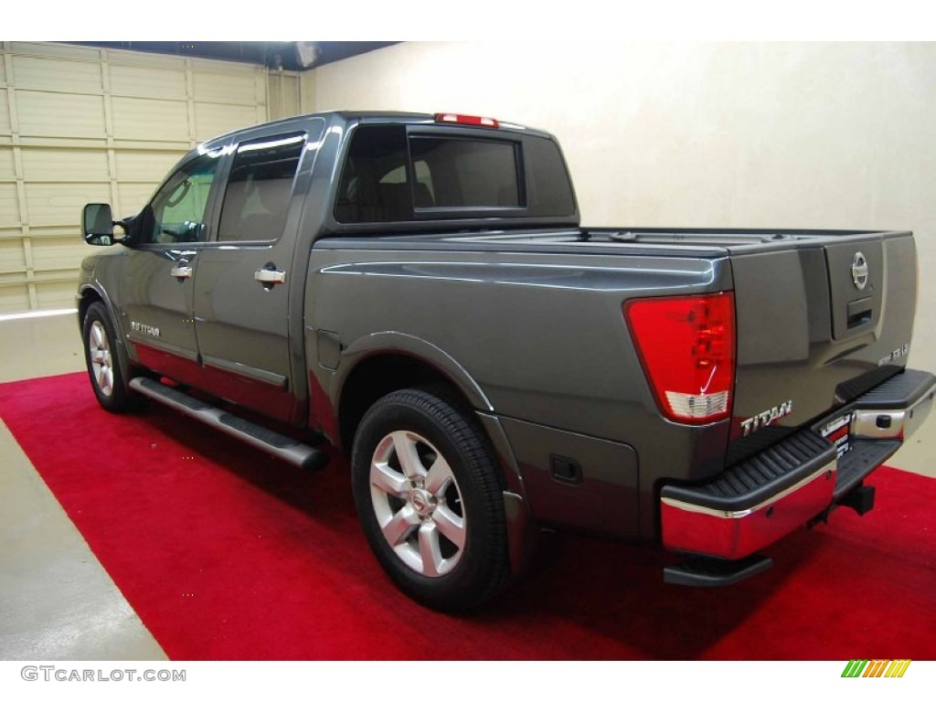 2010 smoke metallic nissan titan le crew cab 61457480. Black Bedroom Furniture Sets. Home Design Ideas
