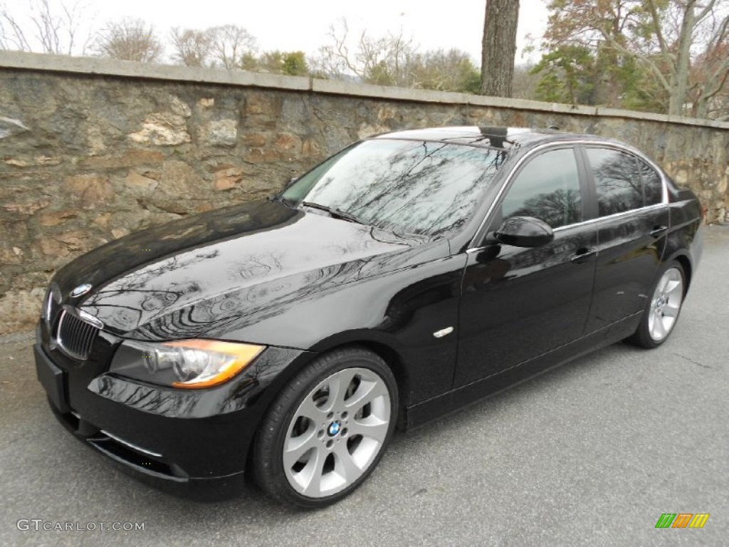 jet black 2007 bmw 3 series 335i sedan exterior photo. Black Bedroom Furniture Sets. Home Design Ideas
