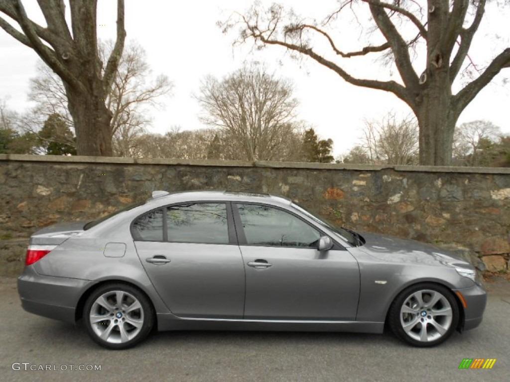 Space Grey Metallic 2008 Bmw 5 Series 535i Sedan Exterior Photo