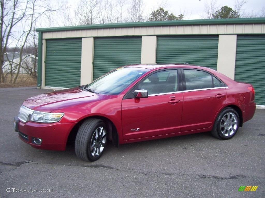 2008 MKZ AWD Sedan - Vivid Red Metallic / Dark Charcoal photo #1