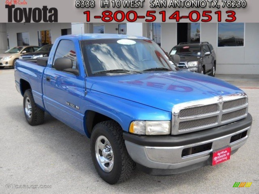 1998 intense blue pearl dodge ram 1500 st regular cab 61457403 car color galleries. Black Bedroom Furniture Sets. Home Design Ideas