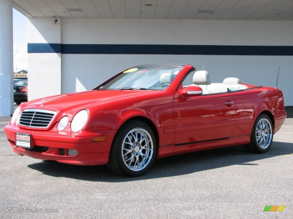 2002 Magma Red Mercedes Benz Clk 320 Cabriolet 61457575