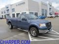 Medium Wedgewood Blue Metallic 2005 Ford F150 XLT Regular Cab 4x4