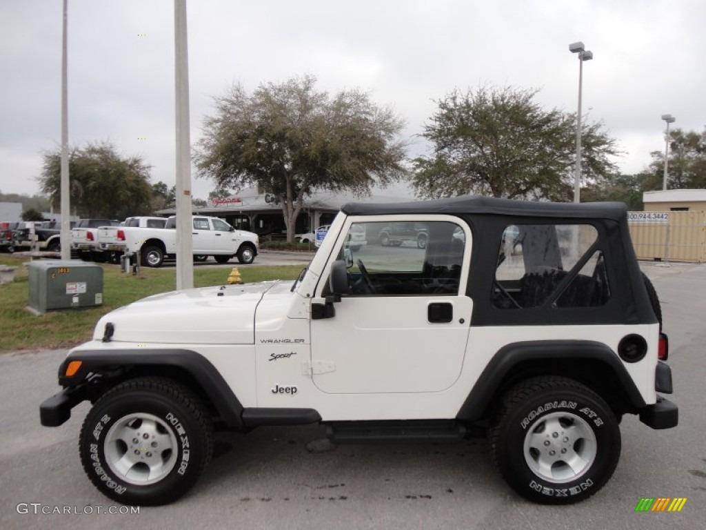 Stone White 2002 Jeep Wrangler Sport 4x4 Exterior Photo #61490754