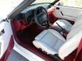 1990 Ford Mustang White/Scarlet Interior Prime Interior Photo