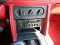 1990 Ford Mustang White/Scarlet Interior Controls Photo