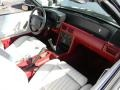 1990 Ford Mustang White/Scarlet Interior Dashboard Photo