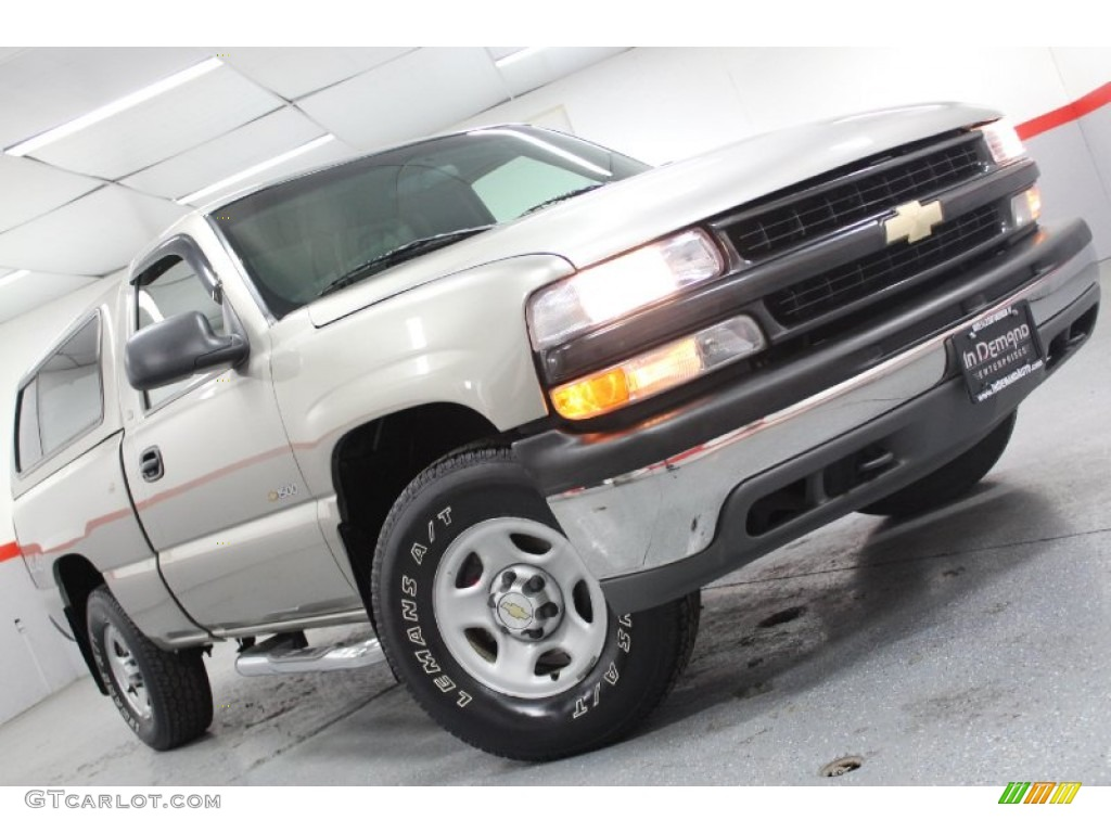 2002 Silverado 1500 LS Regular Cab 4x4 - Light Pewter Metallic / Graphite Gray photo #1